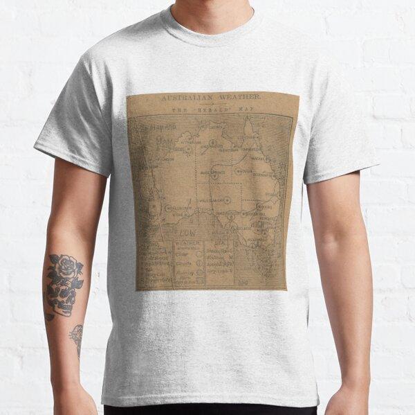 Australian Weather Map 12 May 1916 Classic T-Shirt