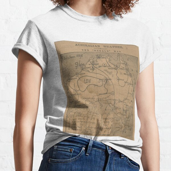 Australian Weather Map 3 June 1916 Classic T-Shirt