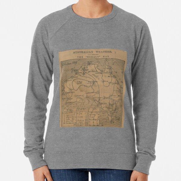 Australian Weather Map 3 June 1916 Lightweight Sweatshirt