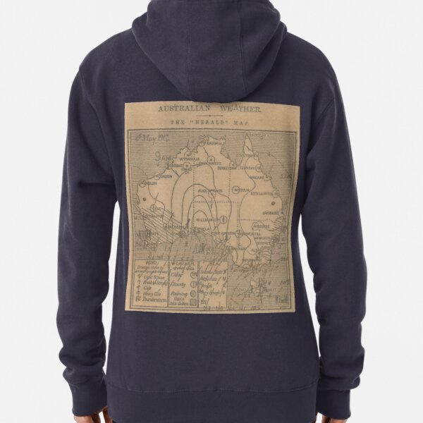 Australian Weather Map 4 May 1917 Pullover Hoodie