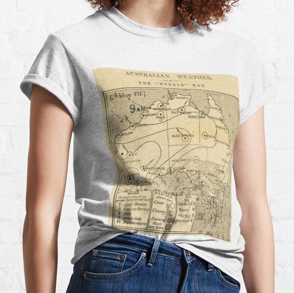 Australian Weather Map 12 May 1917 Classic T-Shirt