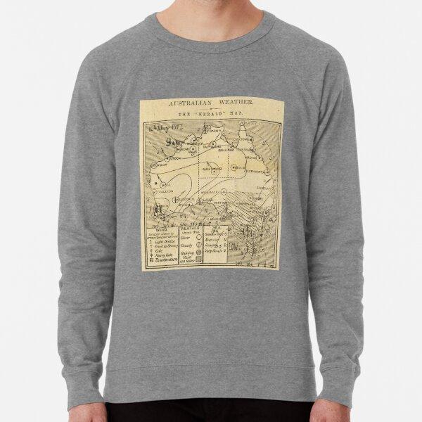 Australian Weather Map 12 May 1917 Lightweight Sweatshirt
