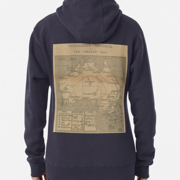 Australian Weather Map 19 May 1917 Pullover Hoodie