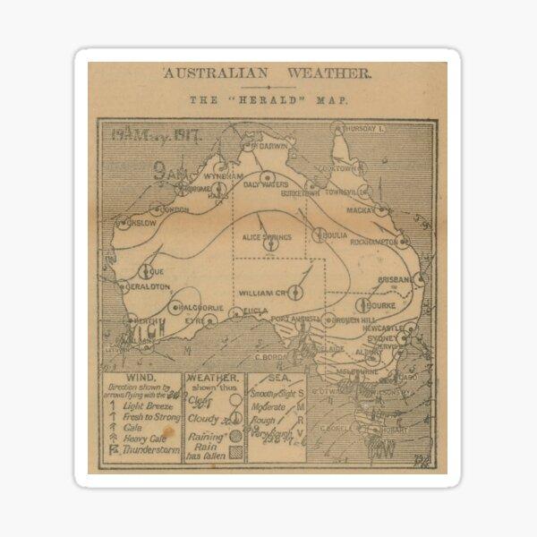 Australian Weather Map 19 May 1917 Sticker