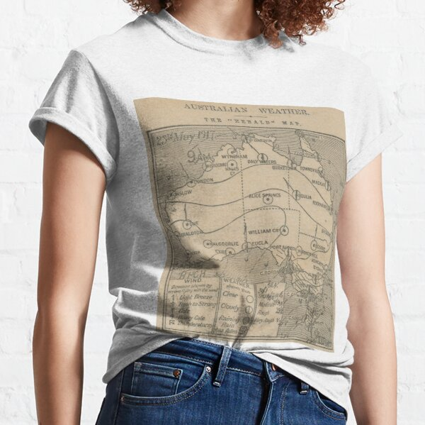 Australian Weather Map 23 May 1917 Classic T-Shirt