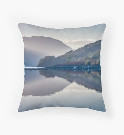 The Boat and The Jetty Throw Pillow
