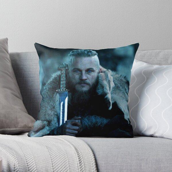 Ragnar Lothbrok viking Throw Pillow