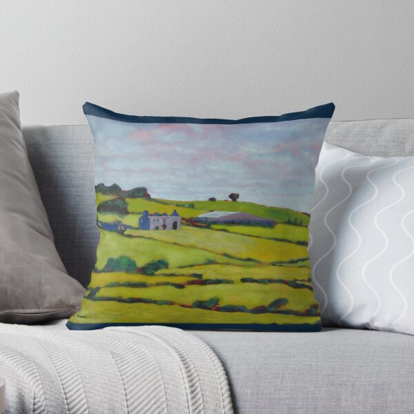Ruined House, Ireland Throw Pillow