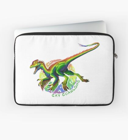 Gay Guanlong (with text)  Laptop Sleeve