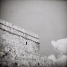 Tulum Mexico - Tempel des absteigenden Gottes von James Lyons