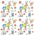Woodland Animals in Seasonal Sweaters by SallyJTaylor