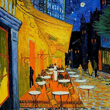 Cafe Terrace at Night iphone Case by NewNomads