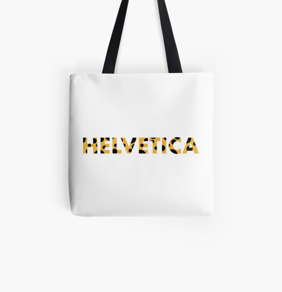 Helvetica All Over Print Tote Bag