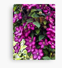Flowing FLowers Canvas Print