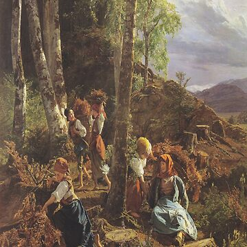 Rushwood collectors in the Wienerwald-Ferdinand Georg Waldmüller by LexBauer