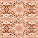 Newton Raphson Fractal Seamless Pattern IX (copper) by shane22