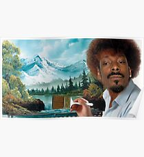 SNOOP HUND ALS BOB ROSS Poster
