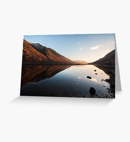Sunset At Loch Etive Greeting Card