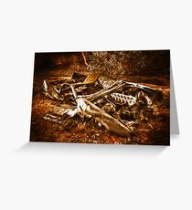 Forgotten wheels of yesterday Greeting Card