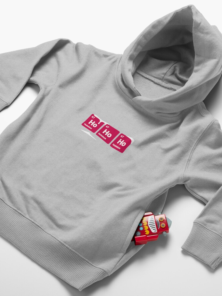Alternate view of HoHoHo! Periodic Table Elements Toddler Pullover Hoodie