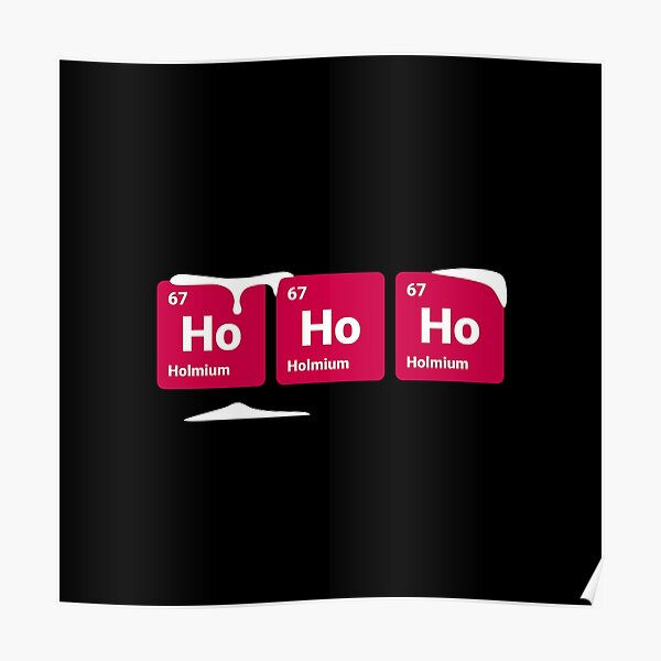 HoHoHo! Periodic Table Elements Poster