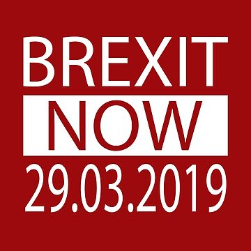 Brexit Now 29.03.2019 Brexit Means Brexit Leave Means Leave by DavidLeeDesigns