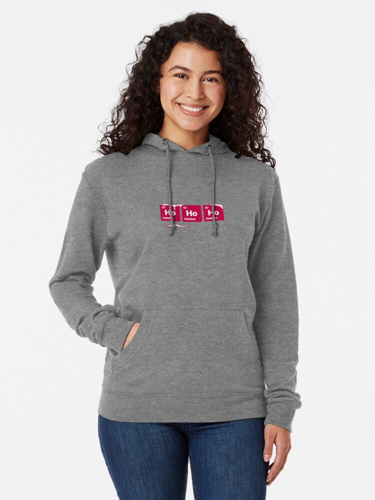 Alternate view of HoHoHo! Periodic Table Elements (Inverted) Lightweight Hoodie