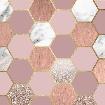 Indulgent desires rose gold marble by marbleco