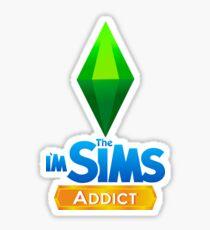 Ich bin der Sims Addict Sticker