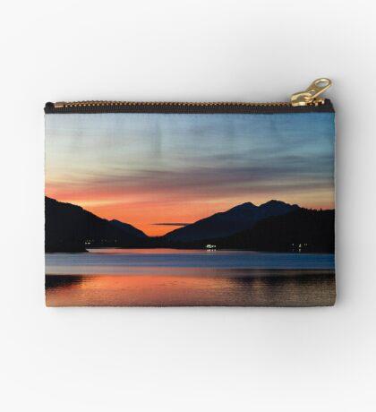 Sunset Over Loch Leven Zipper Pouch