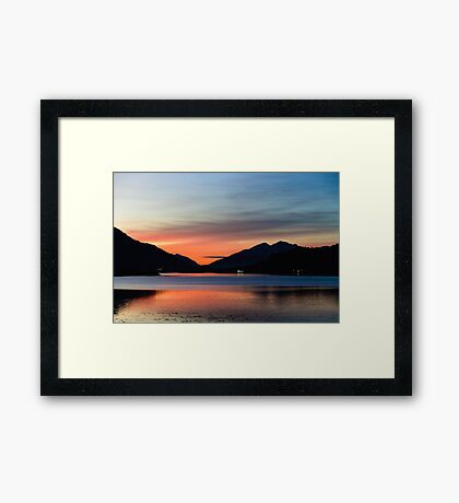 Sunset Over Loch Leven Framed Print
