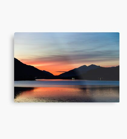 Sunset Over Loch Leven Metal Print