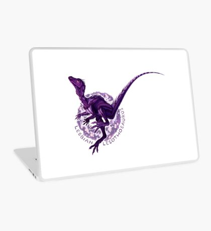 Lesbian Lesothosaurus (with text)  Laptop Skin