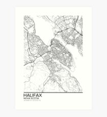 Halifax map poster print wall art, Nova Scotia gift printable, Home and Nursery, Modern map decor for office, Map Art, Map Gifts Art Print