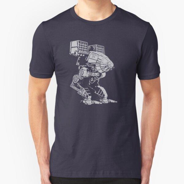 caturpult (white) Slim Fit T-Shirt