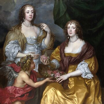 Vintage Anthonis van Dyck Lady Elizabeth Thimbelby and her Sister  Viscountess Andover 1637 by AllVintageArt