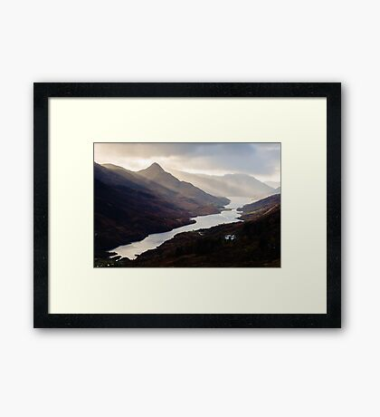 Moody Light on Loch Leven Framed Print