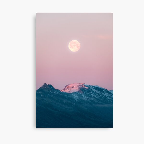 Moon and the Mountains – Landscape Photography  Canvas Print