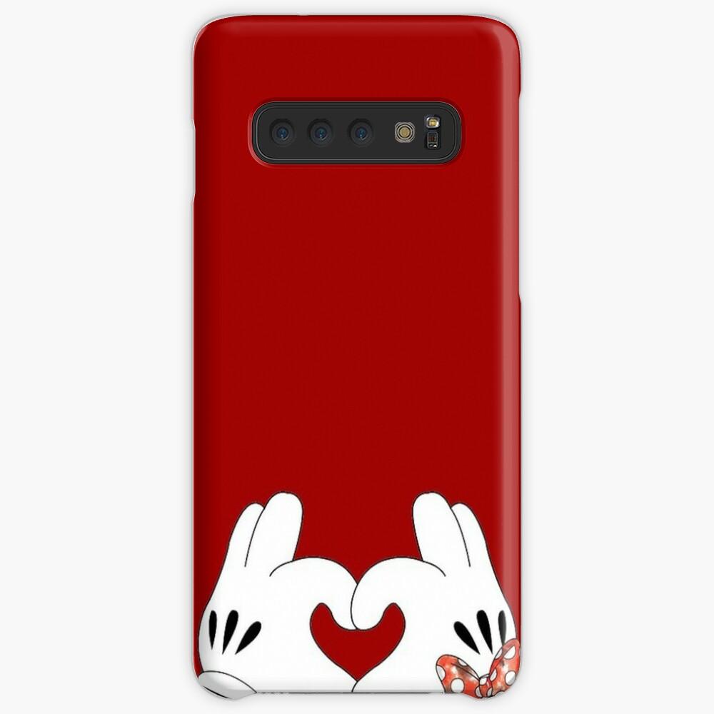 Minnie und Mickey Love Hülle & Klebefolie für Samsung Galaxy