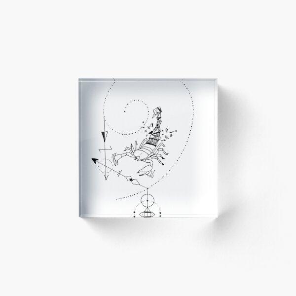 Geometric Scorpion Acrylblock