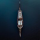 Ship Sailing in the deep blue Sea by Michael Schauer