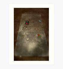 Alice's Gravestone Art Print