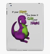 Vinilo o funda para iPad Si eres feliz y lo sabes Barney