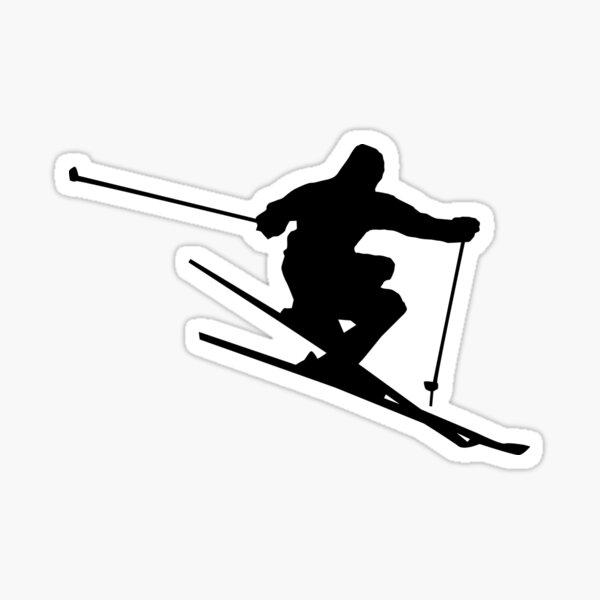 Skiing Silhouette Sticker