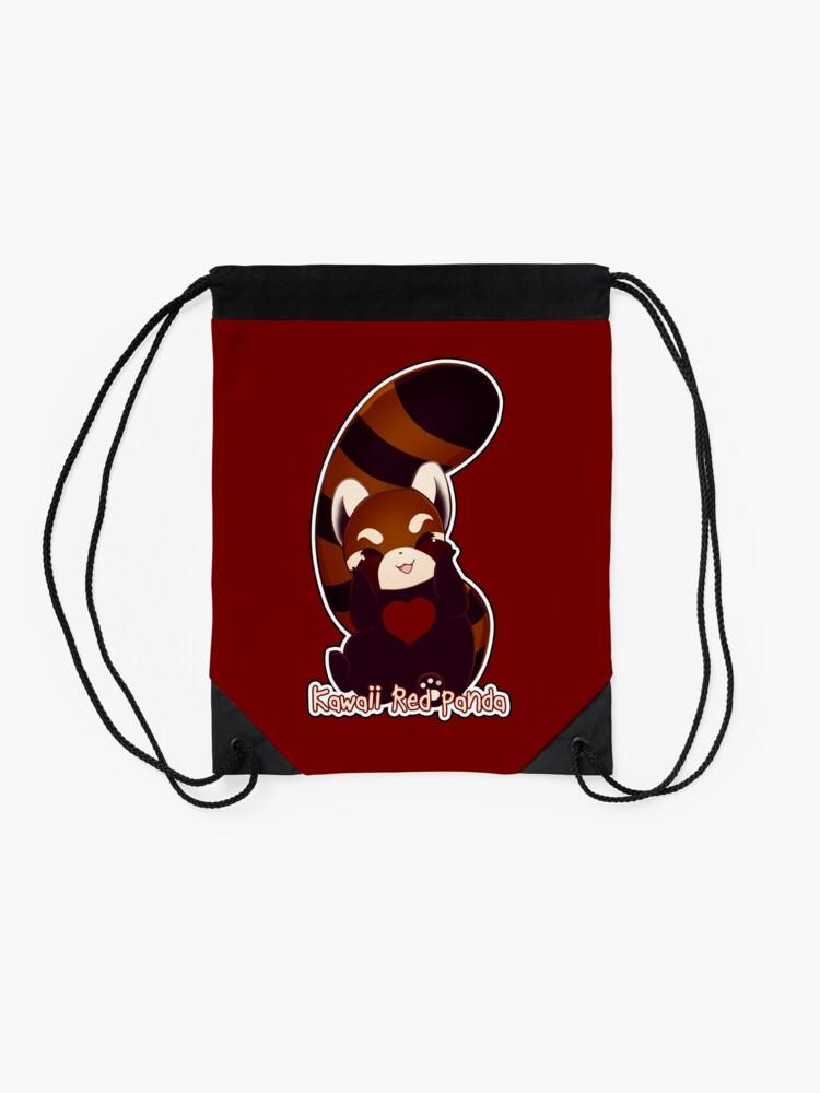 Alternate view of Kawaii Red Panda Drawstring Bag