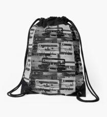 Mixed Tape B&W  Drawstring Bag