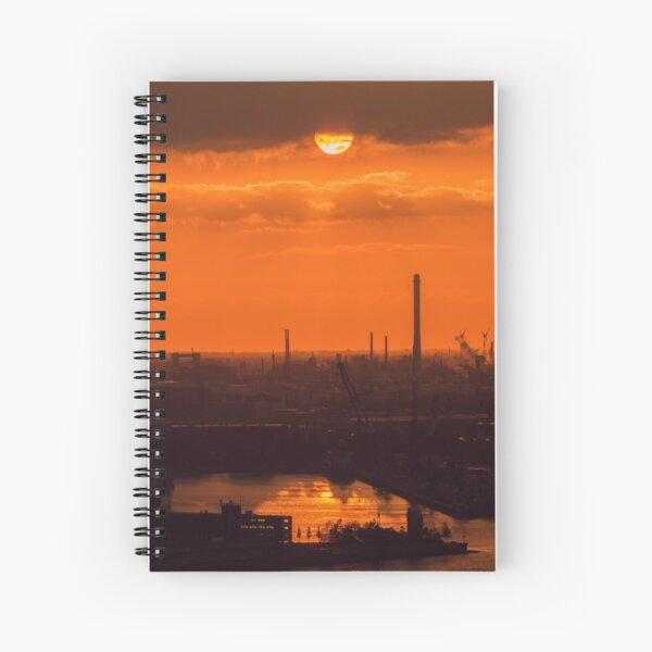 Orange sunset in rotterdam Spiral Notebook