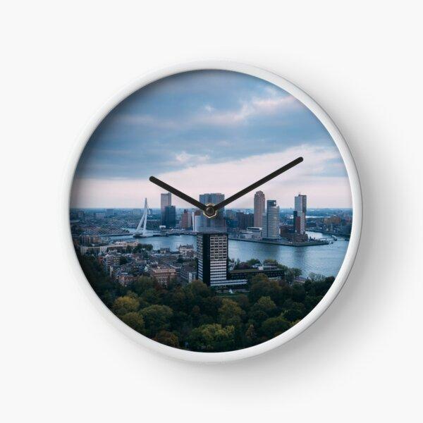 Rotterdam skyline, netherlands Clock