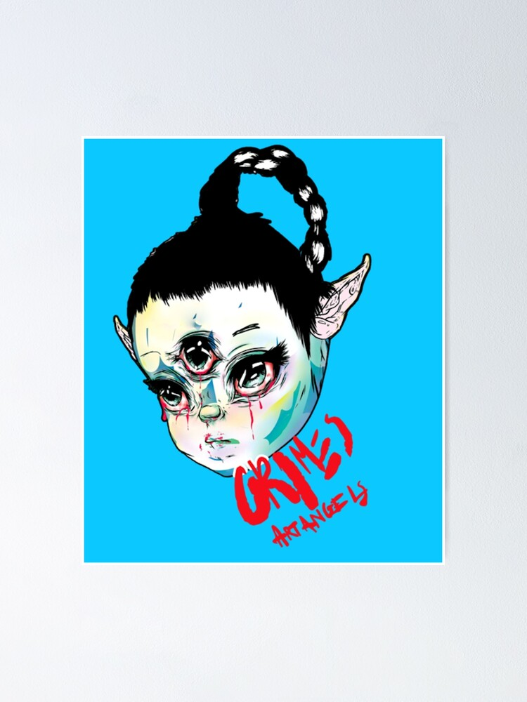 Grimes INSPIRED WALL ART Print Poster A4 A3 halfaxa darkbloom art angels pop