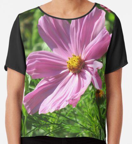 wundervolle pinke Kosmee Blume, Schmuckkörbchen Chiffontop für Frauen